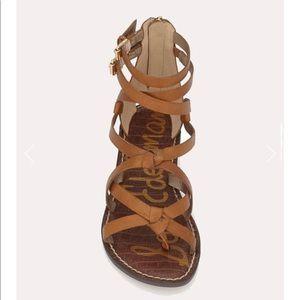 Sam Edelman Gaton Gladiator Sandle Brown Leather